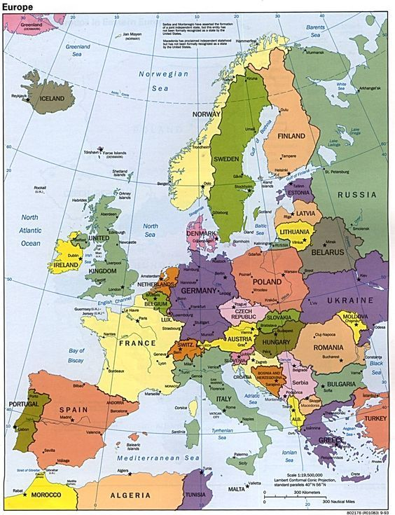 a map to get around Europe: