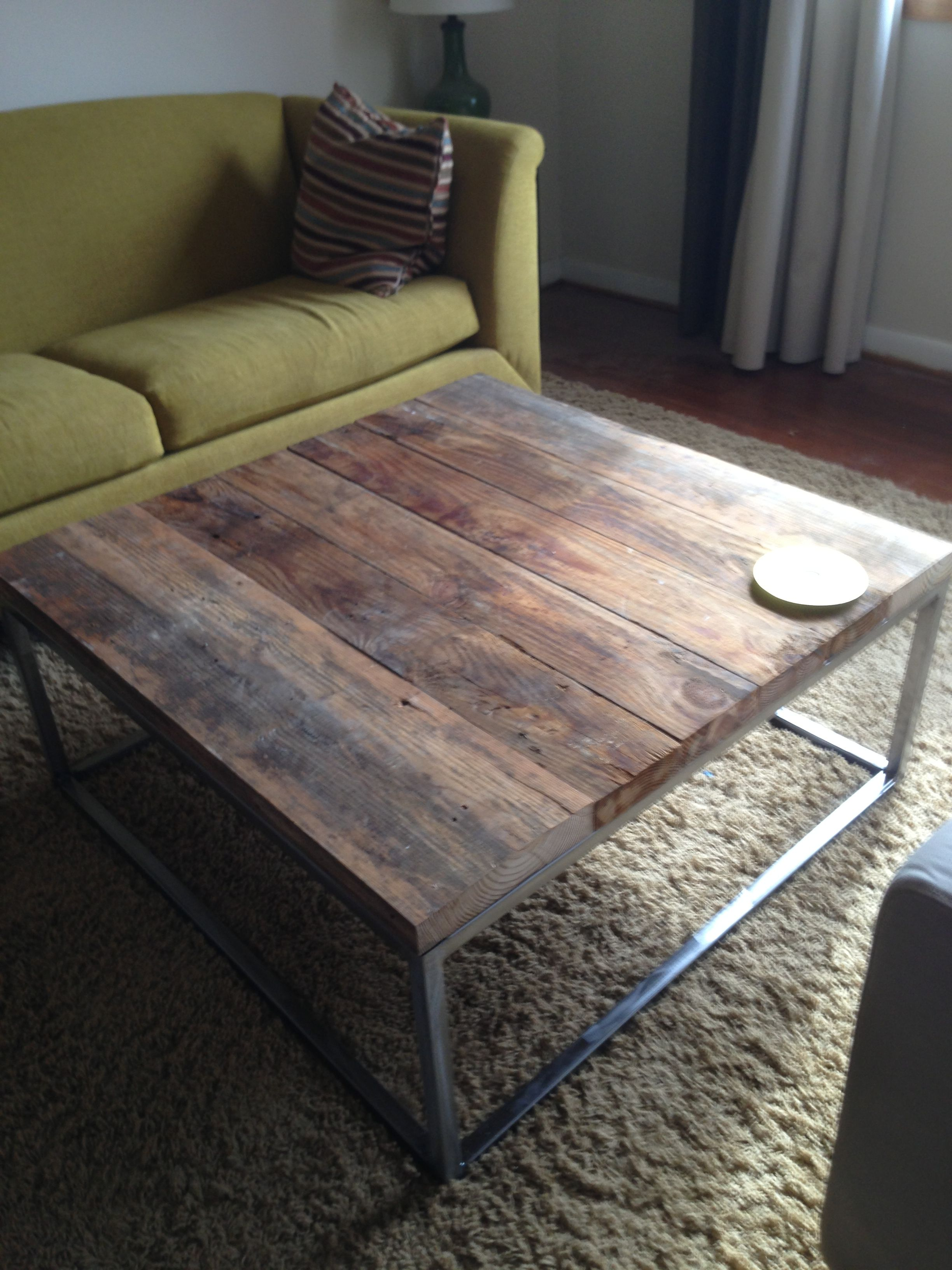 Diy Reclaimed Oak Welded Steel Coffee Table