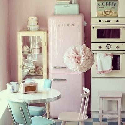 cuisine retro vintage pastel kitchen pinterest cuisines r tro r tro et cuisiner. Black Bedroom Furniture Sets. Home Design Ideas