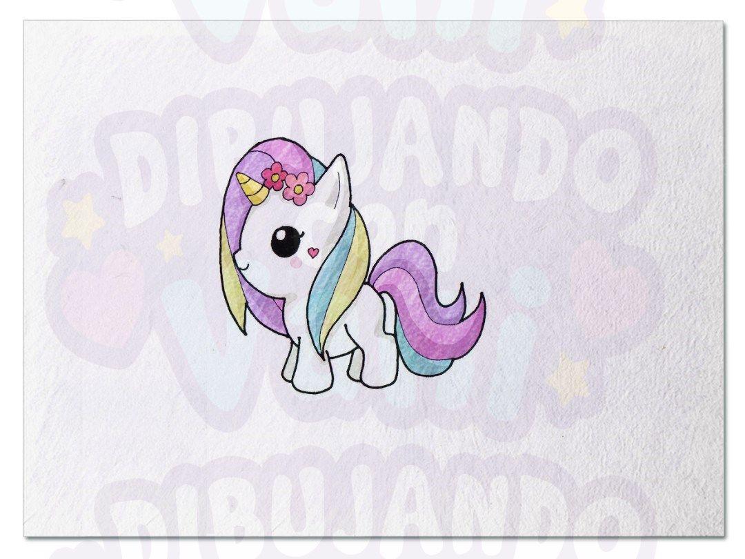 Unicornio Arco Iris Kawaii Con Imagenes Tutoriales De Dibujo
