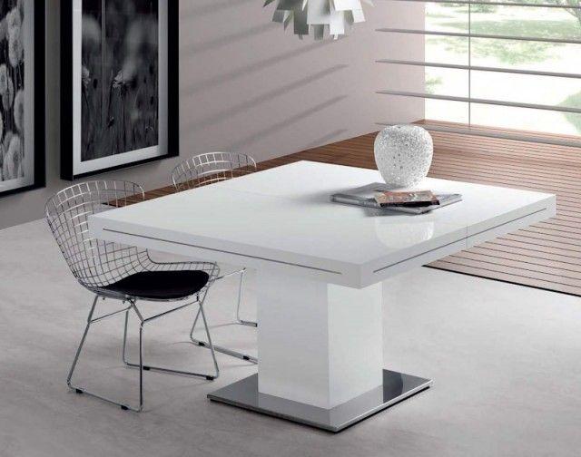 Moderna mesa comedor blanca | Decoración | Pinterest | Comedores ...