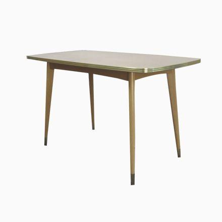 Kleiner Esstisch mit Messingdetails, 1950er Jetzt bestellen unter ...