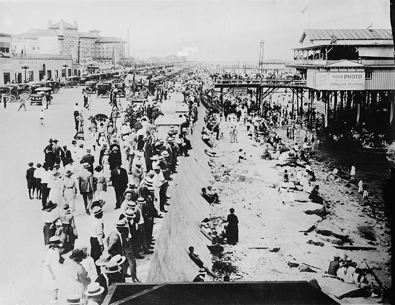 The Seawall 1920 Galveston Island Galveston Beach Galveston