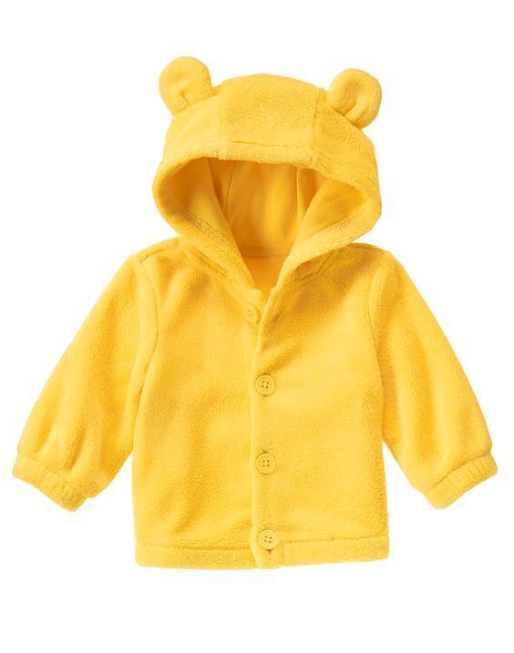 NWT Gymboree COZY PALS Baby Girl Boy Bear Ears Faux Fur Hoodie ...