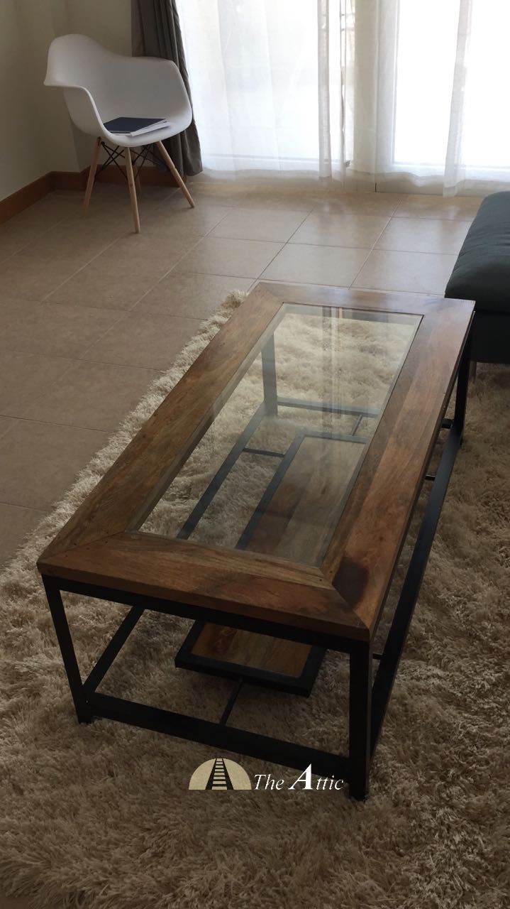 This Coffee Table Is The Perfect Blend Of Wood Glass And Metal With Clean Straight Lines And Loaded With Sty Glass Furniture Furniture Industrial Dining Table [ 1280 x 719 Pixel ]