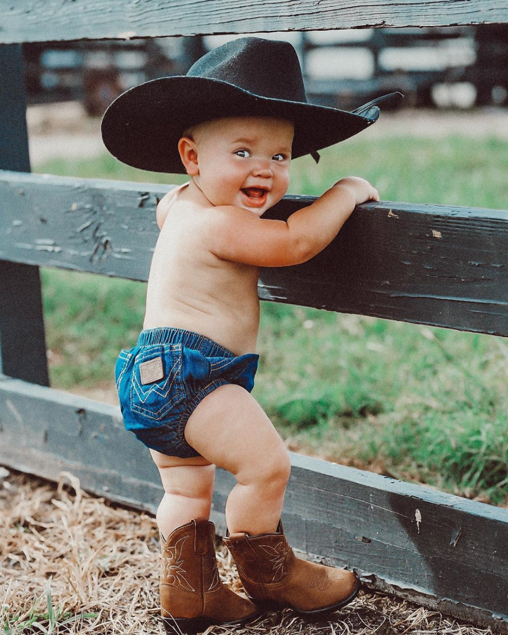 SALE Cute Cowboy Baby Country Western Jumpsuit Shower or Baby Gift