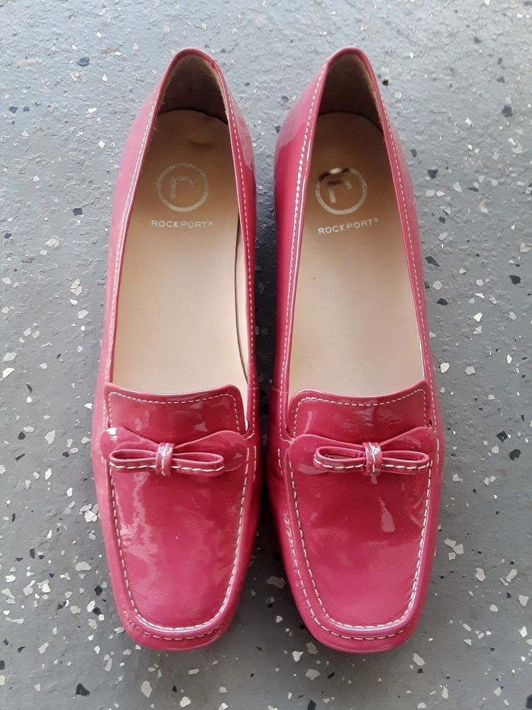 e9d236f9115 Rockport Women s Loafers Size 8M Rose Pedal Red With Bow Rubber Sole Brazil   Rockport  Loafers  Formal