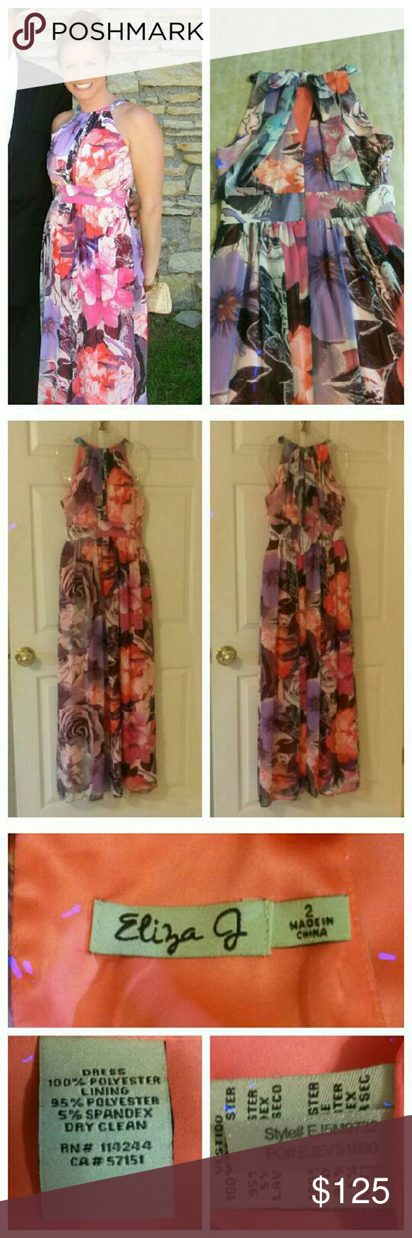 Eliza j long floral chiffon maxi dress my posh picks pinterest