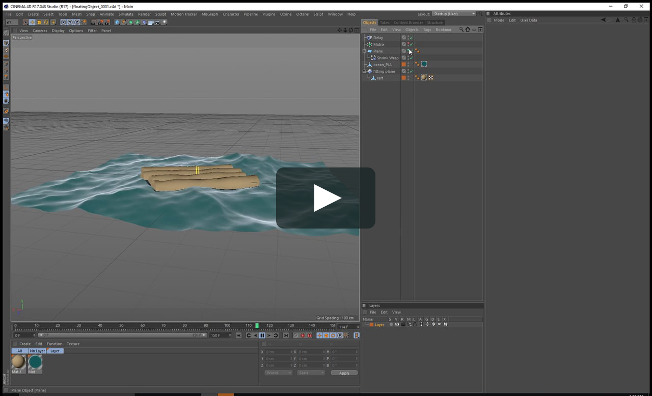 fitting a plane to mograph clones | c4d | Cinema 4d tutorial