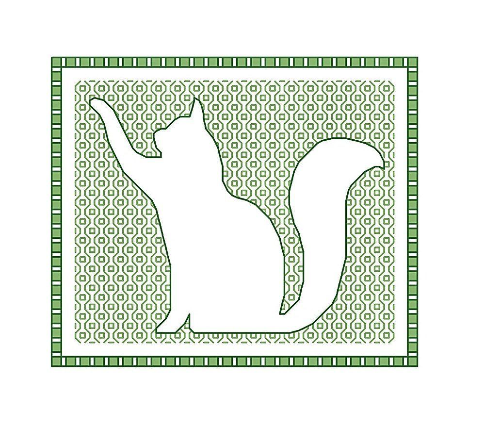 Blackwork Cat blackwork animals chart PDF pattern by CottonSeason ...