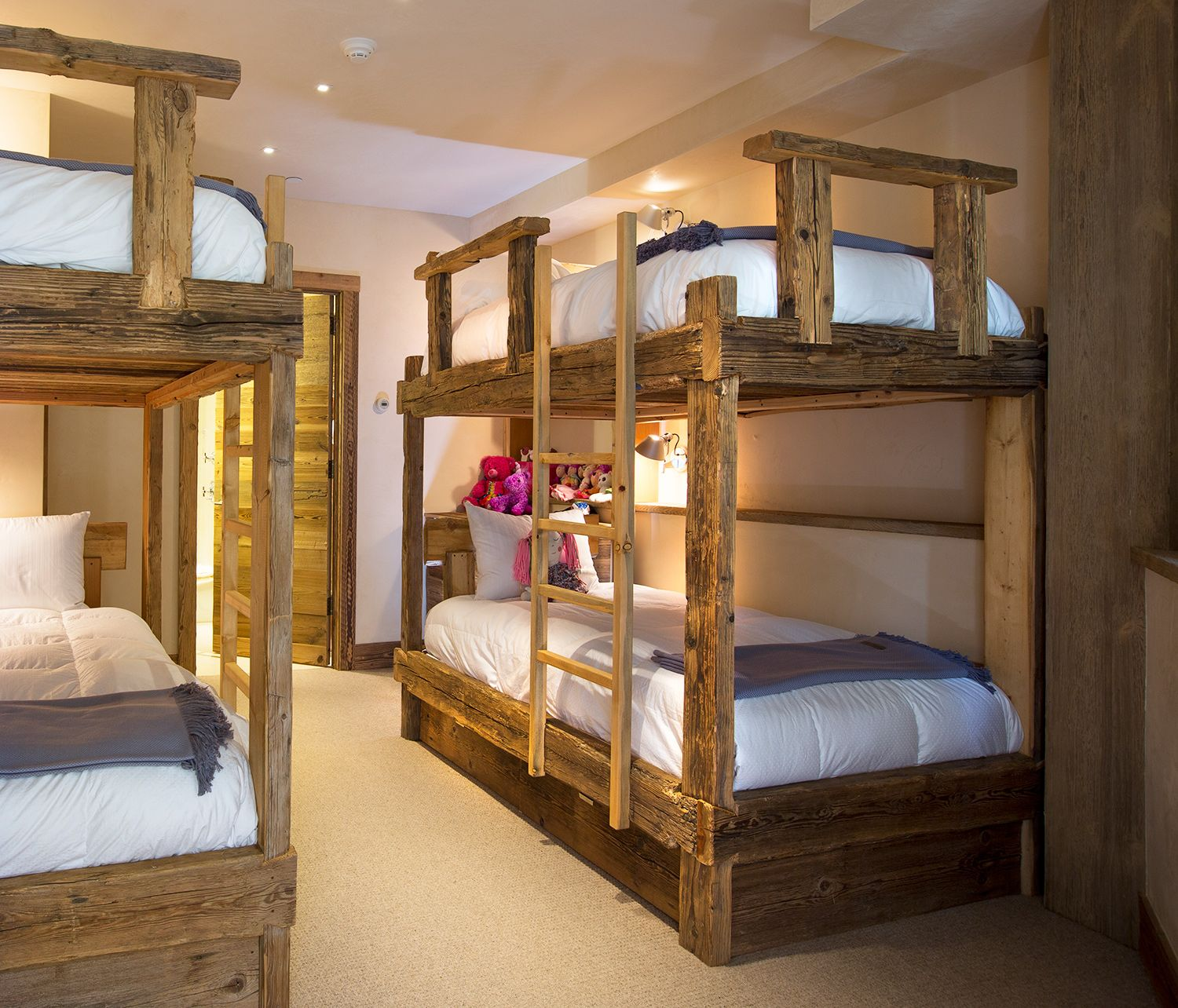 A Kids Room In Luxury Creekside Residence Vail Village Rocky Mountains Colorado The Reclaimed Wood Bunk Beds Are Crafted From Hacked European