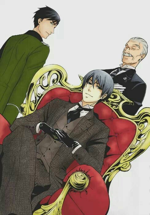 Black Butler. Wow took me a minute to realize that this is Earl Phantomhive, ciels father.