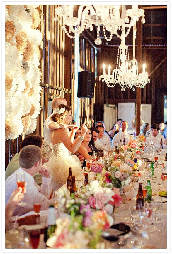Stunning. #wedding #events #centerpiece #flowers #chandelier #hanging #wedding #Decor #rustic #glam