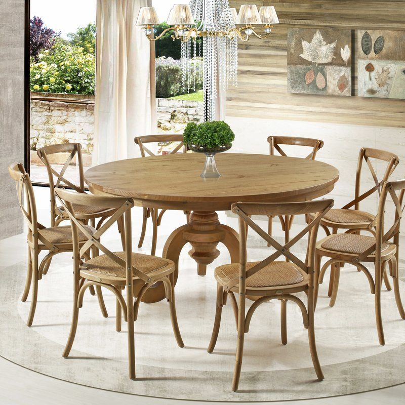 Dining Room Table Round Seats 8 Alluring Overall 31'' H X 63'' L X 63'' Wseats 8 The Legs Feature Country Design Ideas