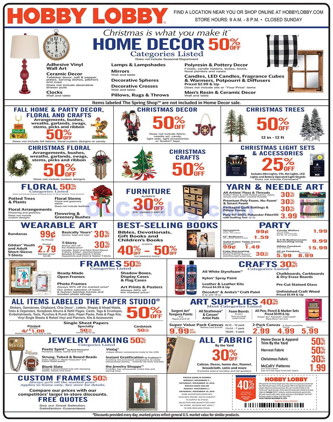 Hobby Lobby Weekly Ad November 4 10 2018 Do You Know What S In And What S Hot In The Hobby Lobby For This Hobby Lobby Hobby Lobby Weekly Ad Hobby Lobby Diy