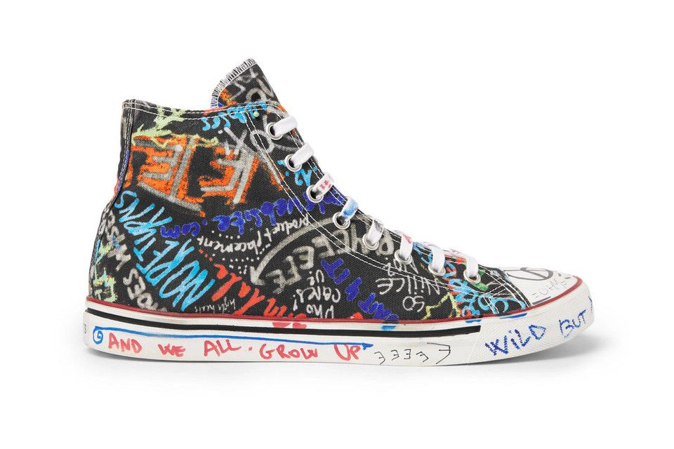 Graffiti Canvas Sneakers Vetements Top Introduces Printed High For TFKu1Jc3l