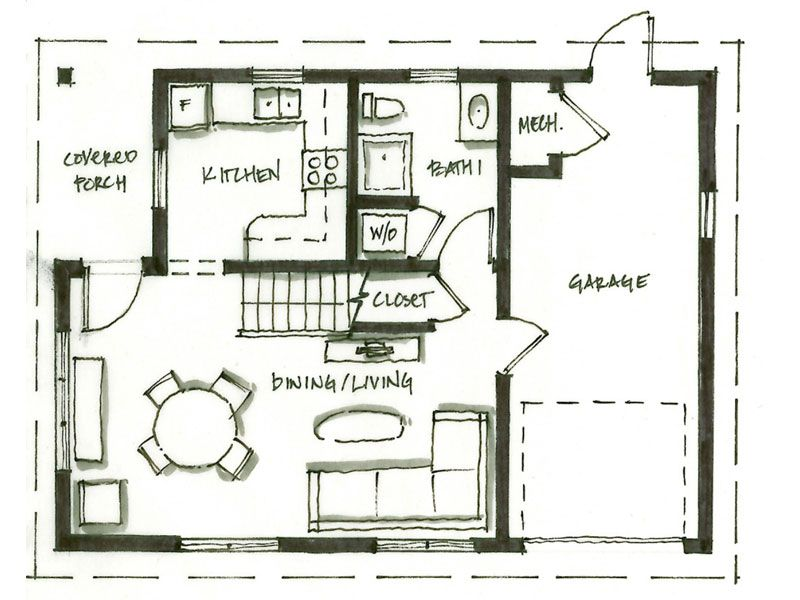 smallworks custom small homes laneway houses in vancouver design and floor plan for arts - Custom Small Home Plans