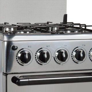 Cocina C 20bs Gas Delne Toda En Acero Inoxidable 4 Hornallas Supergas 1 Grande 2 Medianos 1 Chica Horno Supergas Quemadores Estilo Italiano Asadera