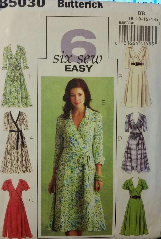 d7f2a30f4151c Butterick Pattern B5030 sizes 8-14 Misses  Wrap Dresses