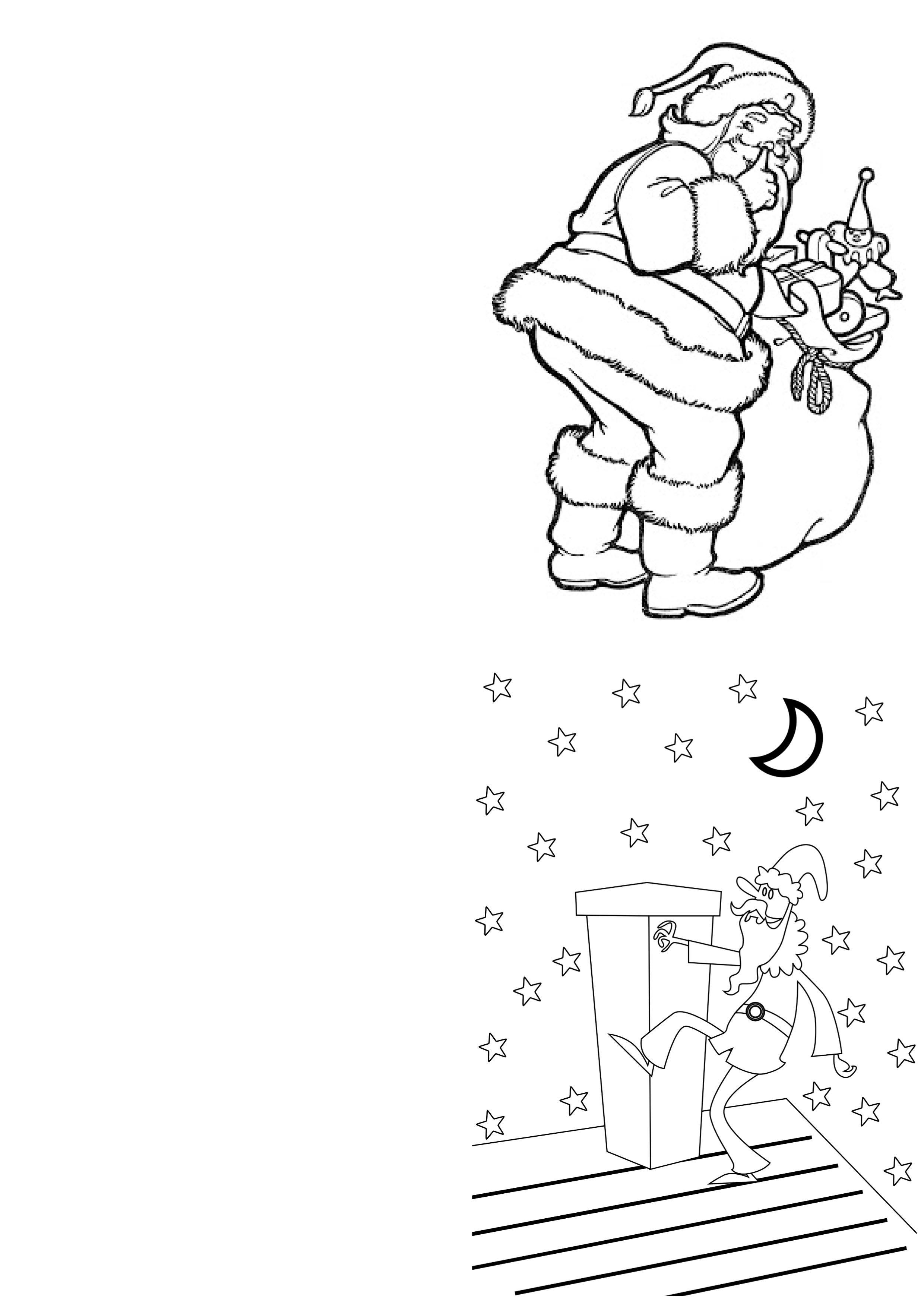 Christmas Coloring Cards Printable