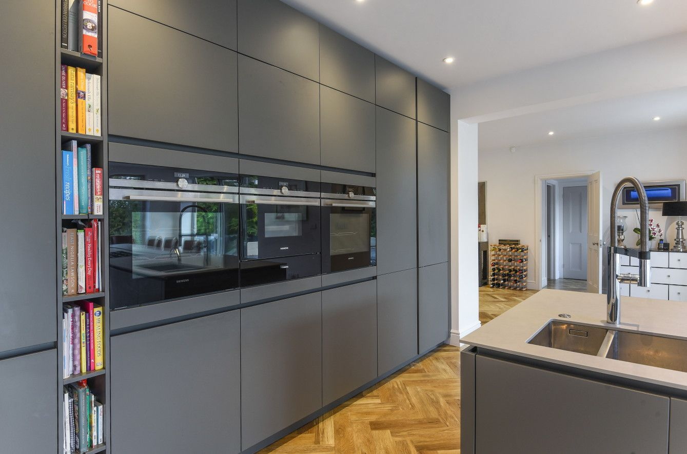 Best Contemporary Grey Kitchen Designed And Installed By Kca 640 x 480