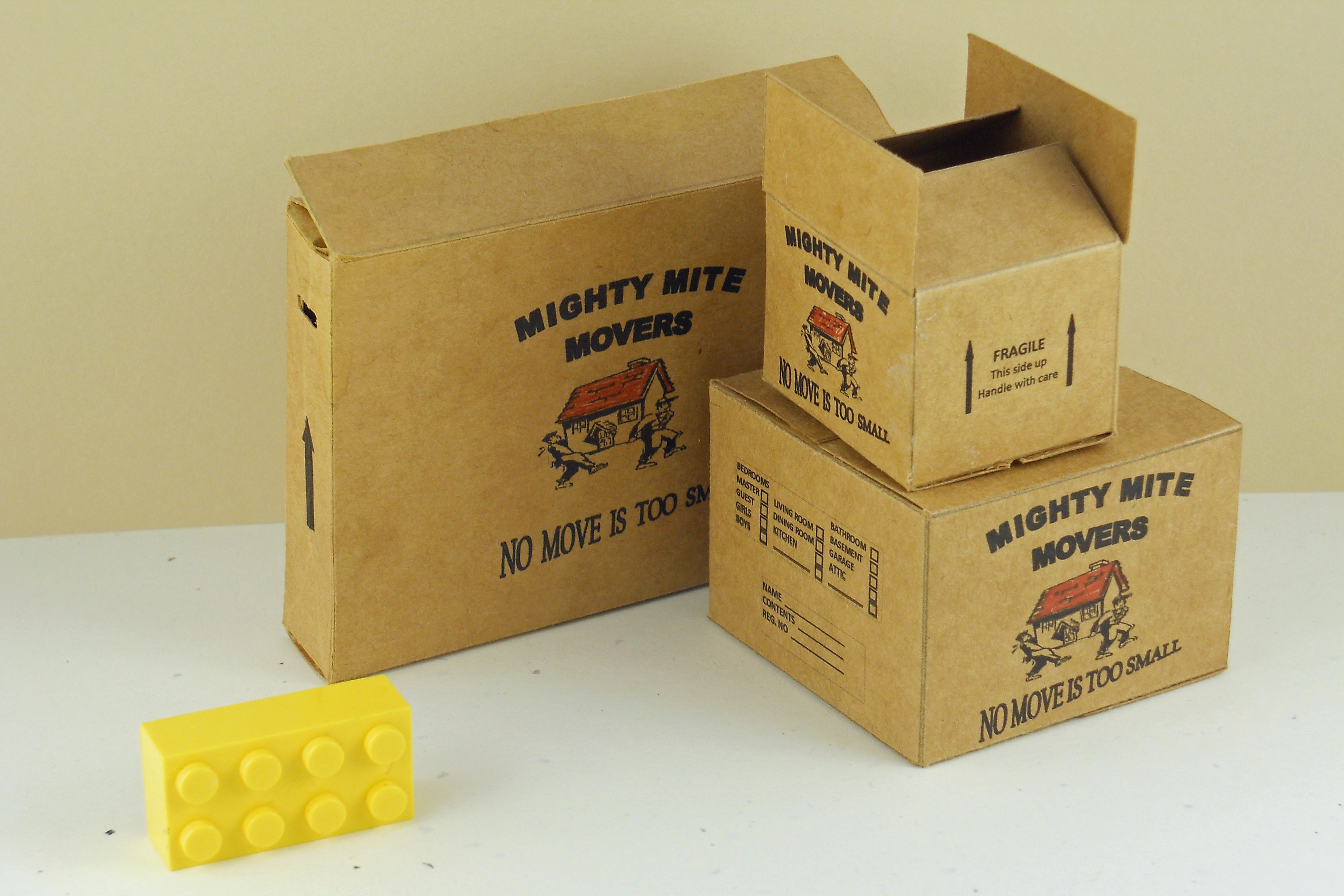 Moving box set in 1:12 scale by Annilee | Moving boxes ...