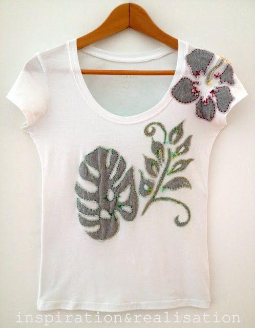 inspiration and realisation: DIY fashion blog: DIY t-shirt tropicana ...