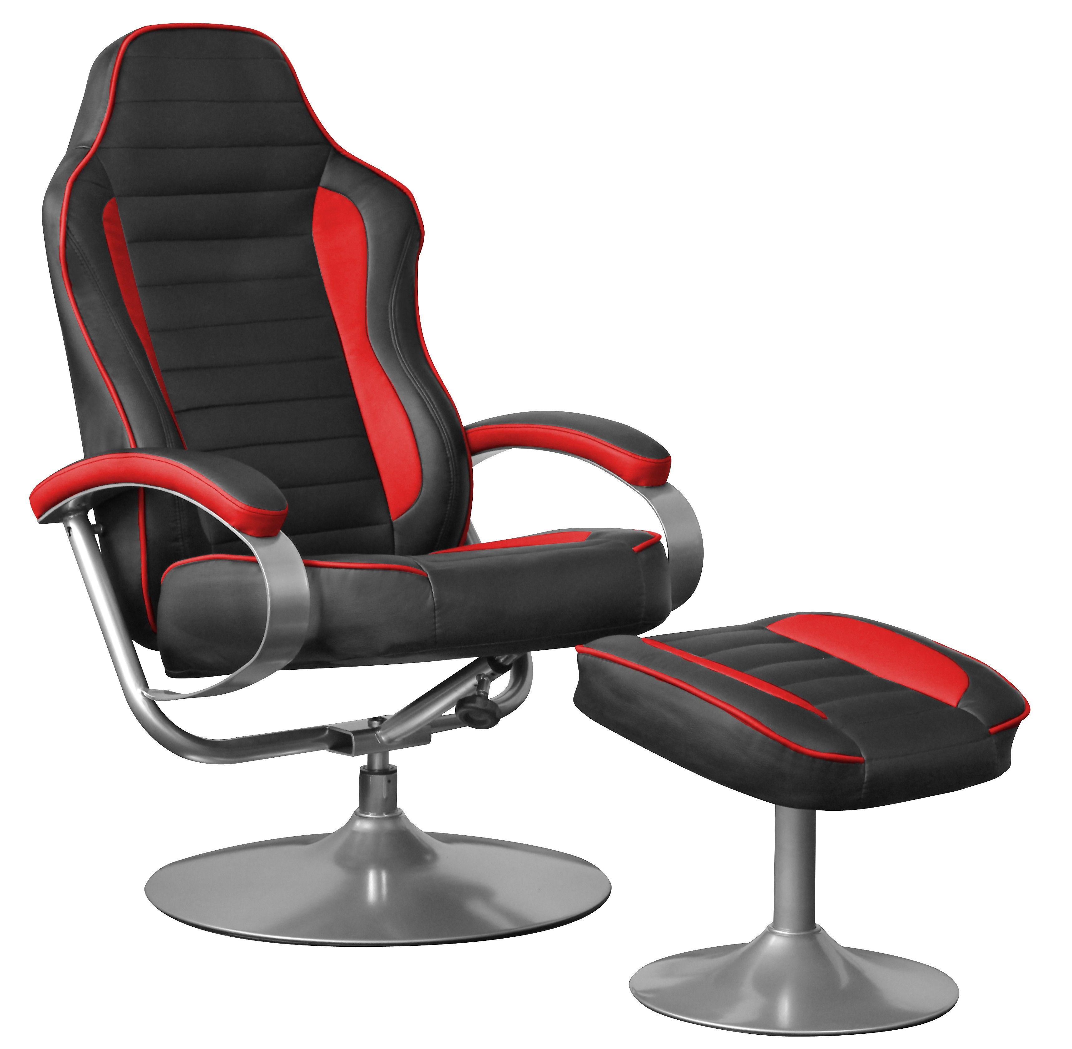fernsehsessel sporting tv relaxsessel schwarz rot drehbar mit hocker chair massage chair