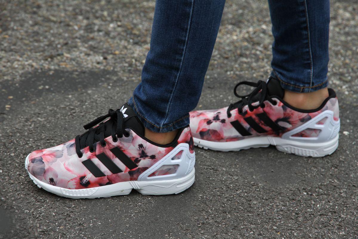 L' Adidas ZX Flux Flowers Kids | Adidas zx, Chaussure mode