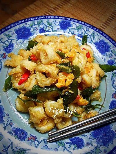 Fiza S Cooking Sotong Goreng Telur Masin Resep Masakan Asia Resep Seafood Resep Masakan Malaysia