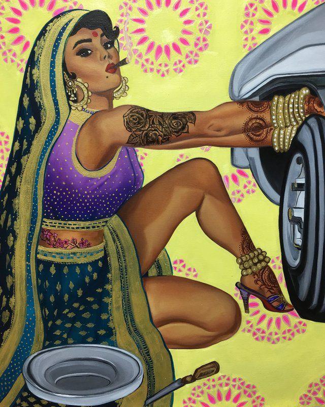 This Feminist Artist Paints Indian Women As Badass Pinup Models