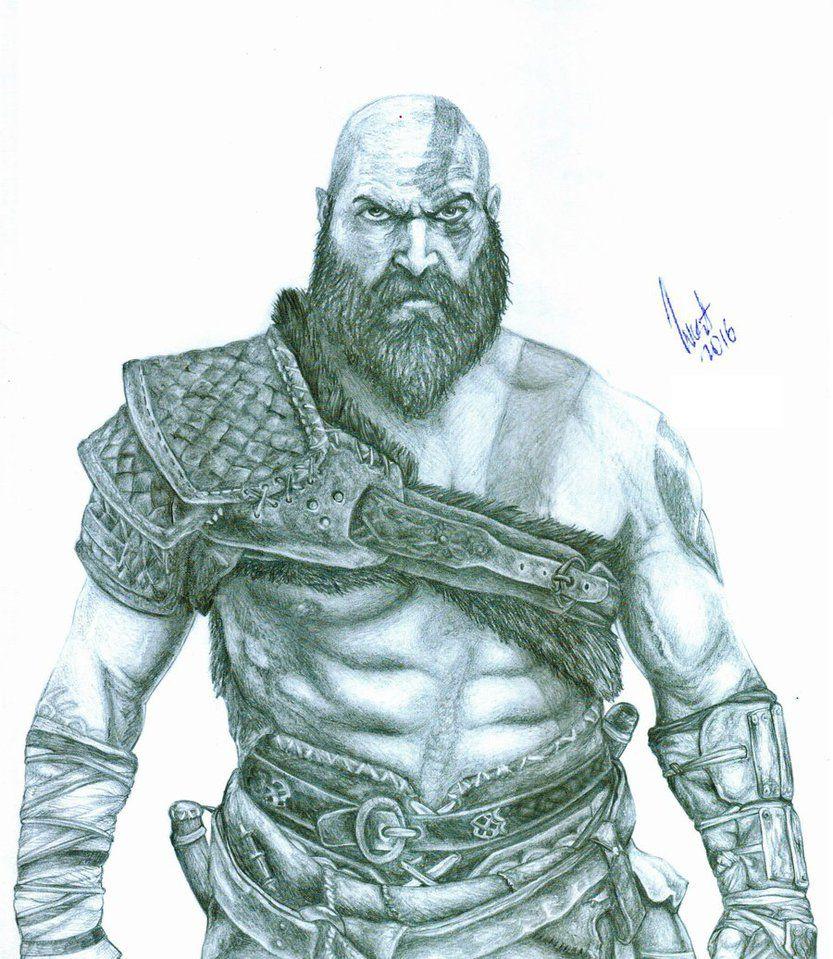 Old Kratos God Of War 4 By Beelthand Anime E Desenhos