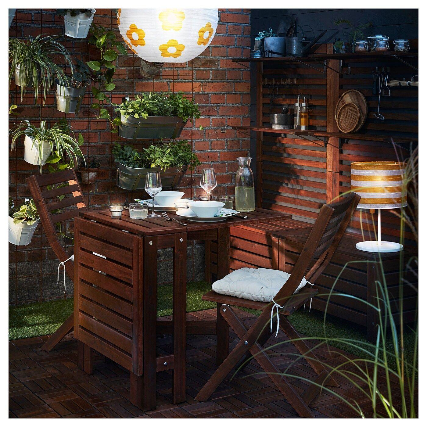 Applaro Klapptisch Aussen Braun Las Ikea Outdoor Veranda