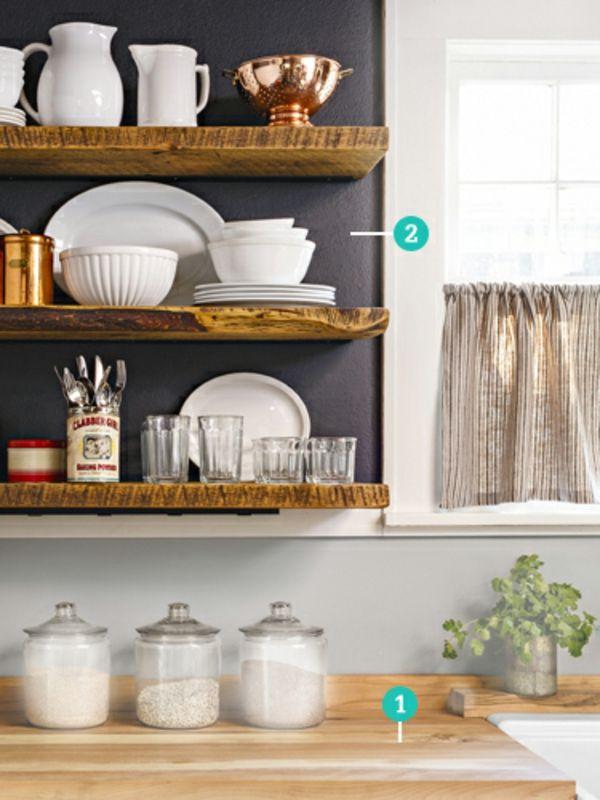 Kleine Landhausküche kleine küche einrichten landhausküche mit viel stauraum