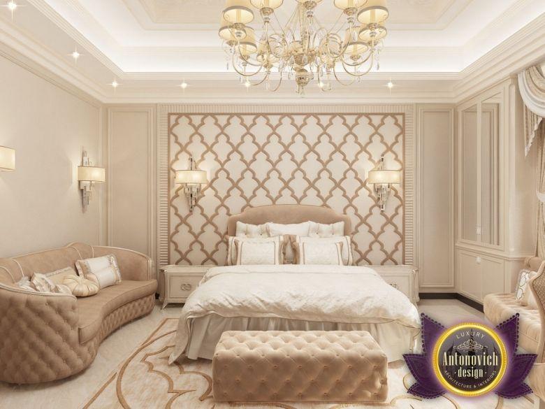 luxurious arabic style bedroom Bedroom Desig… | Antonovich Home Interior Design | Elegant Residences | Rich Luxury Mansions