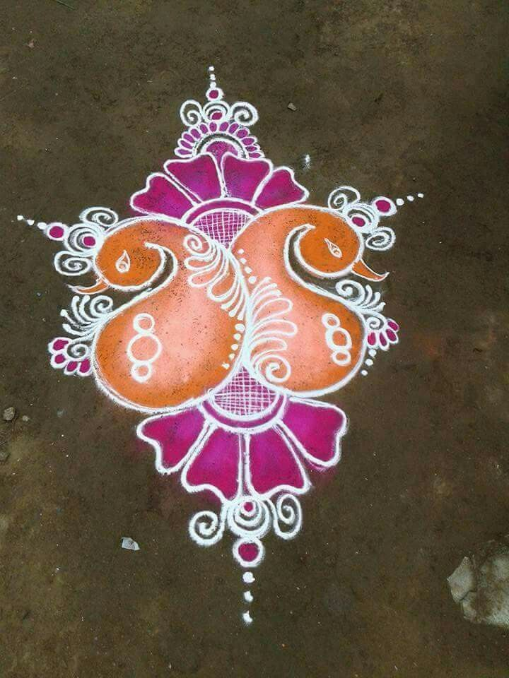 More any Rangoli border designs, Free hand rangoli
