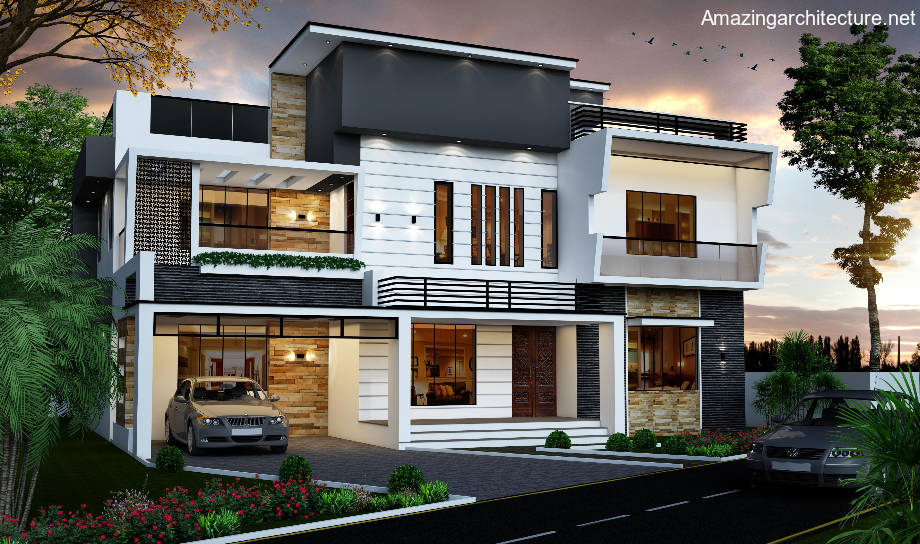 A picturesque modern house design is illustrated in Pinoy House
