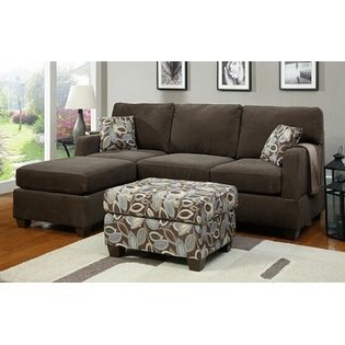 poundex 2 pc dark grey chenille microfiber fabric upholstered small sectional sofa with reversible chaise at