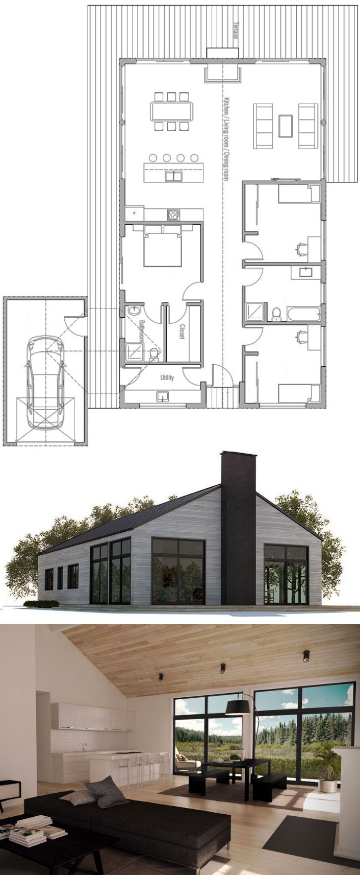 House Design Small House Ch232 100 Affordable House Plans