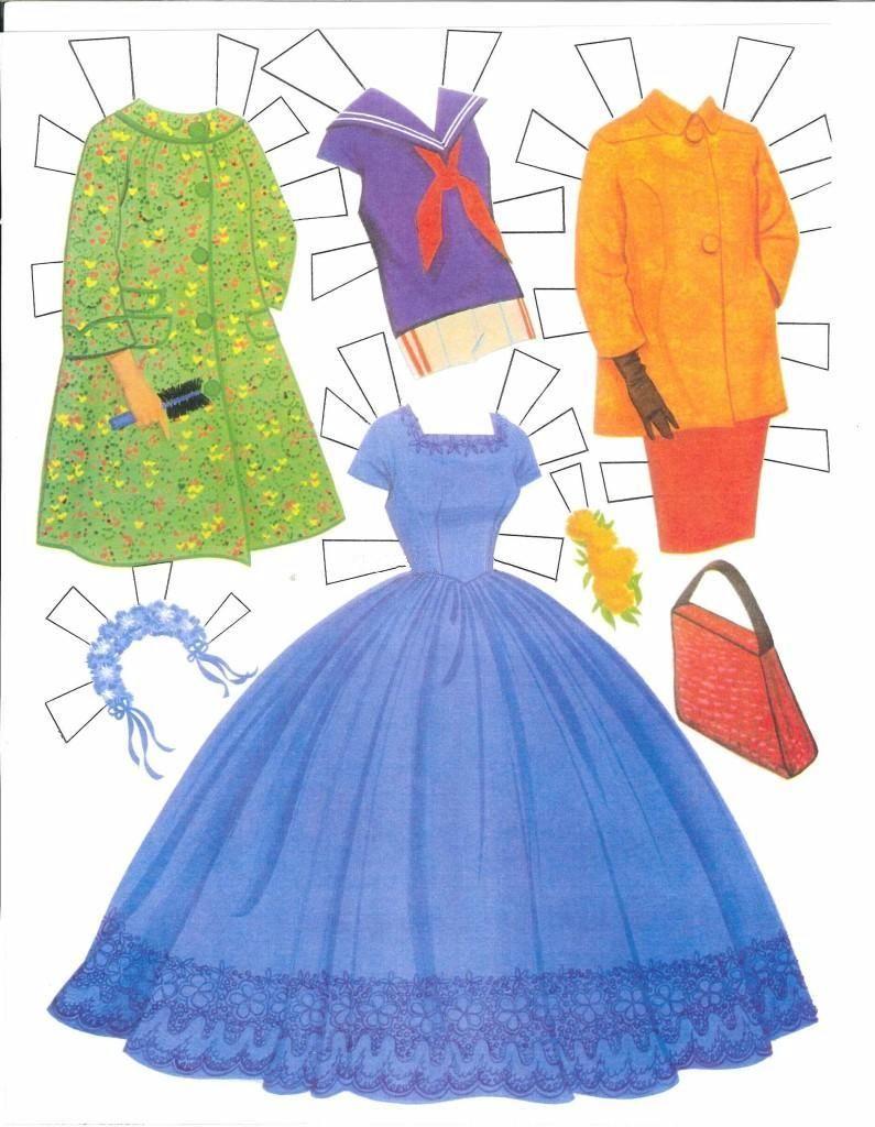 Album Archive Disney paper dolls, Paper doll dress