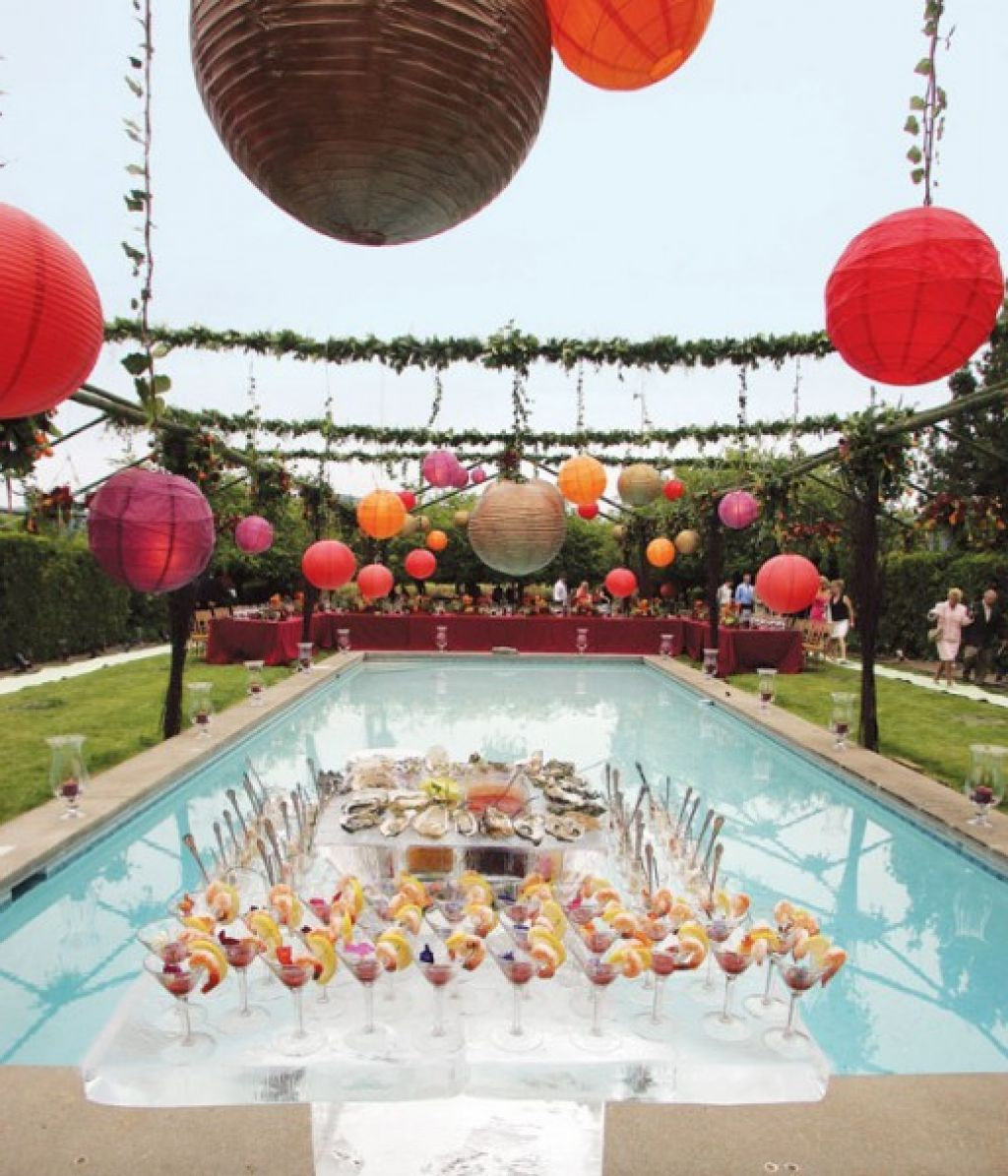 Pool Party Decorations Ideas say it in the swimming pool Wedding Reception Pool Party Decorating Ideas New Wedding Design For Pool Party Decorating Ideas