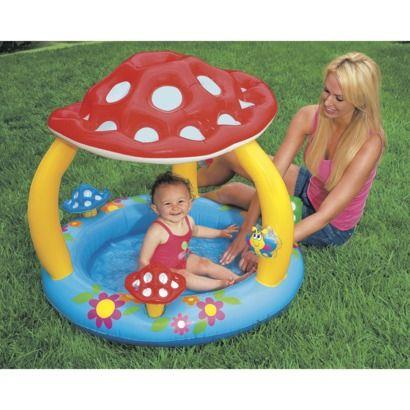 Intex Mushroom Kids And Baby Pool From Target 12 99 On Zuzu S Birthday Wish List Inflatable Baby Pool Baby