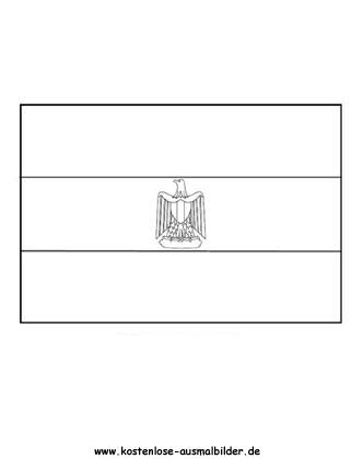 Ausmalbild Fahne Flaggge Agypten Agypten Fahnen Ausmalbild