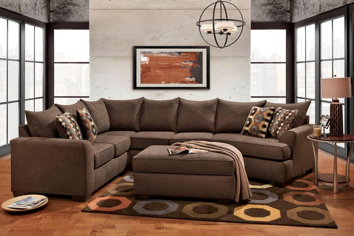 Griffiths 3 Piece Sectional Essence Earth Chelsea Home Furniture