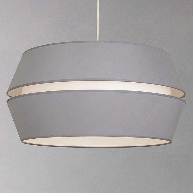 John Lewis Partners Ingrid Easy To Fit Shade Grey Modern Ceiling Lights Bedroom Bedroom Ceiling Light Modern Pendant Lighting Dining