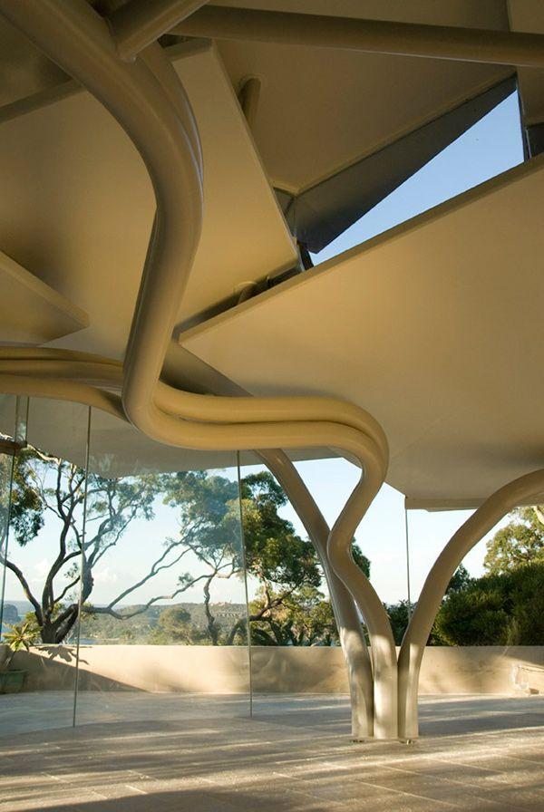 Modern Australian Architecture Leaf House mimics terrain