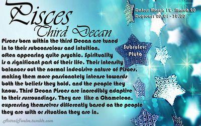 Pisces third decan   PISCES   Scorpio, Taurus, Virgo
