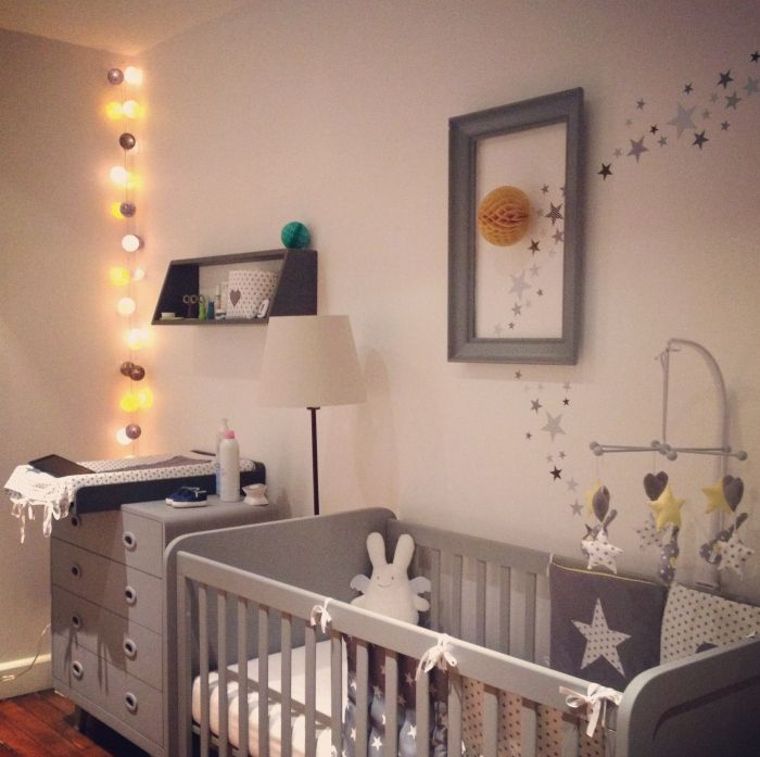 10 dormitorios infantiles ideales en tonos grises for Habitacion bebe gris