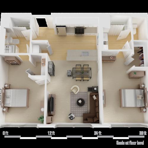 Impressive 2 Bedroom Apartments 2 Bed 2 Bath Apartment In Los ...