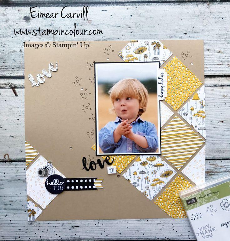 Stampin' Up! Pick a Pattern Scrapbook Page